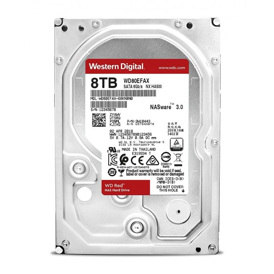 Disco Duro Int W. Digital Red Plus WD80EFAX, 8TB, 5400rpm, 256mb