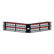 Patch Panel 48 puertos 2U vacio Angulado NEGRO