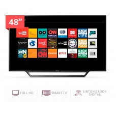 TV Sony Smart 48in, Wifi, Full HD, HDMIx2, USBx2, X-Reality Pro
